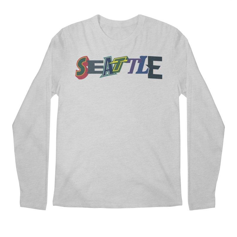 All Things Seattle Men's Regular Longsleeve T-Shirt by Mike Hampton's T-Shirt Shop
