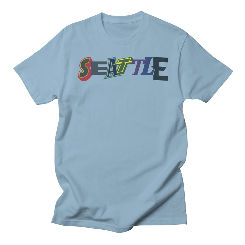 All Things Seattle Men's Regular T-Shirt by Mike Hampton's T-Shirt Shop