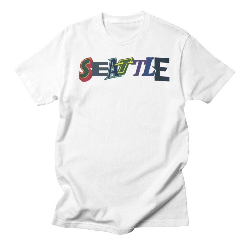 All Things Seattle Men's T-Shirt by Mike Hampton's T-Shirt Shop