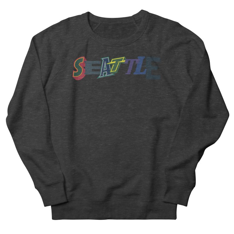 All Things Seattle Women's French Terry Sweatshirt by Mike Hampton's T-Shirt Shop
