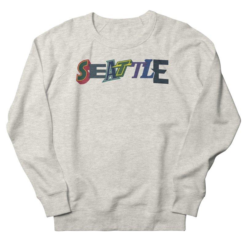 All Things Seattle Women's French Terry Sweatshirt by Mike Hampton's T-Shirt Shop