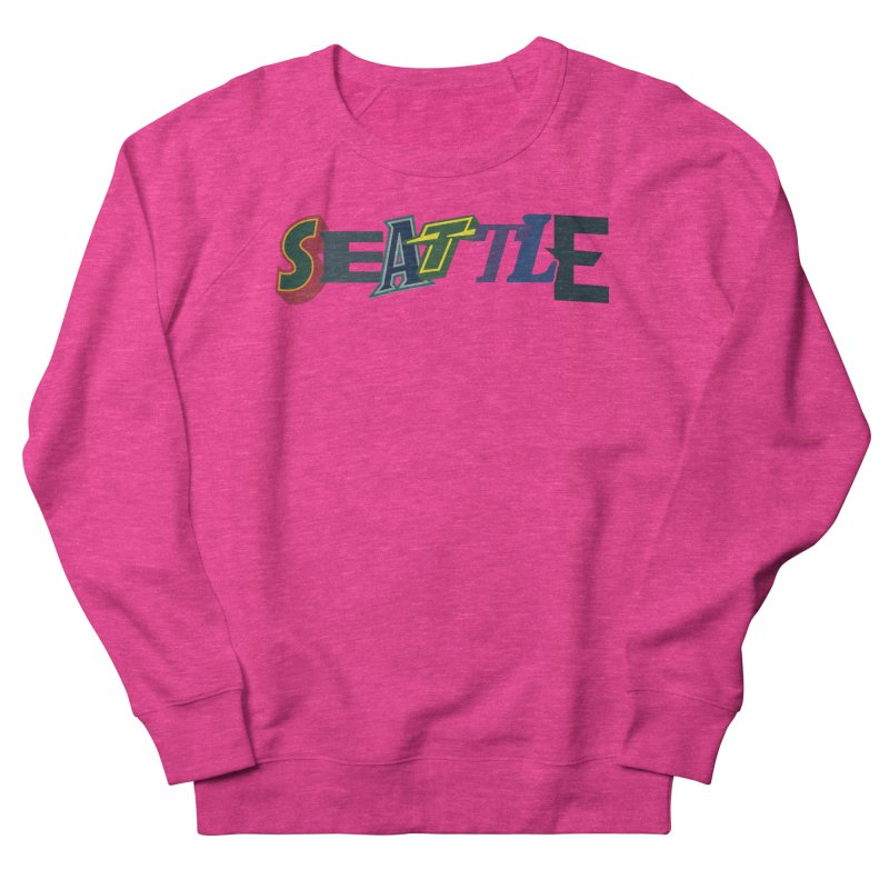 All Things Seattle Men's French Terry Sweatshirt by Mike Hampton's T-Shirt Shop