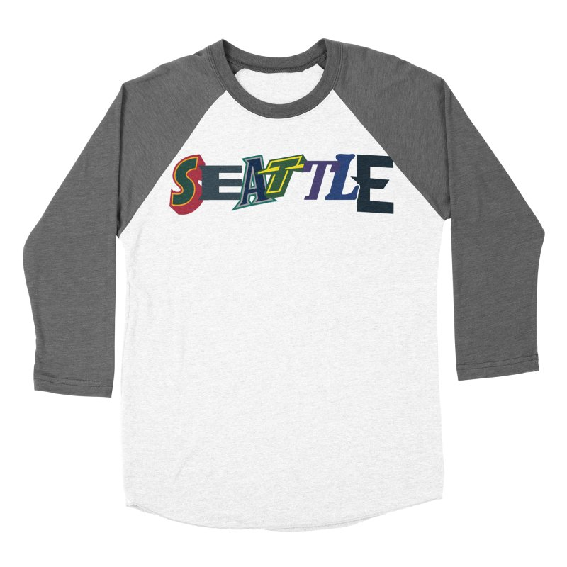 All Things Seattle Men's Baseball Triblend Longsleeve T-Shirt by Mike Hampton's T-Shirt Shop