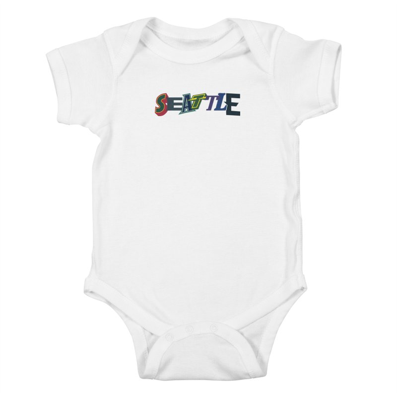 All Things Seattle Kids Baby Bodysuit by Mike Hampton's T-Shirt Shop
