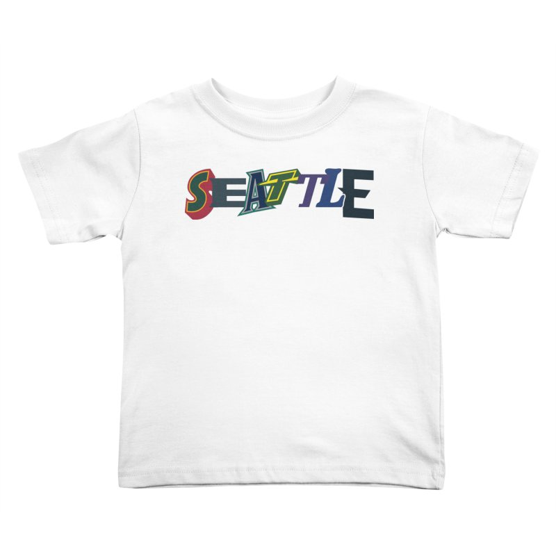 All Things Seattle Kids Toddler T-Shirt by Mike Hampton's T-Shirt Shop