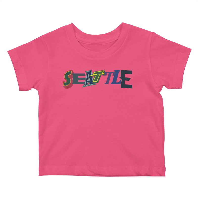 All Things Seattle Kids Baby T-Shirt by Mike Hampton's T-Shirt Shop