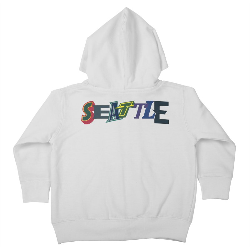 All Things Seattle Kids Toddler Zip-Up Hoody by Mike Hampton's T-Shirt Shop