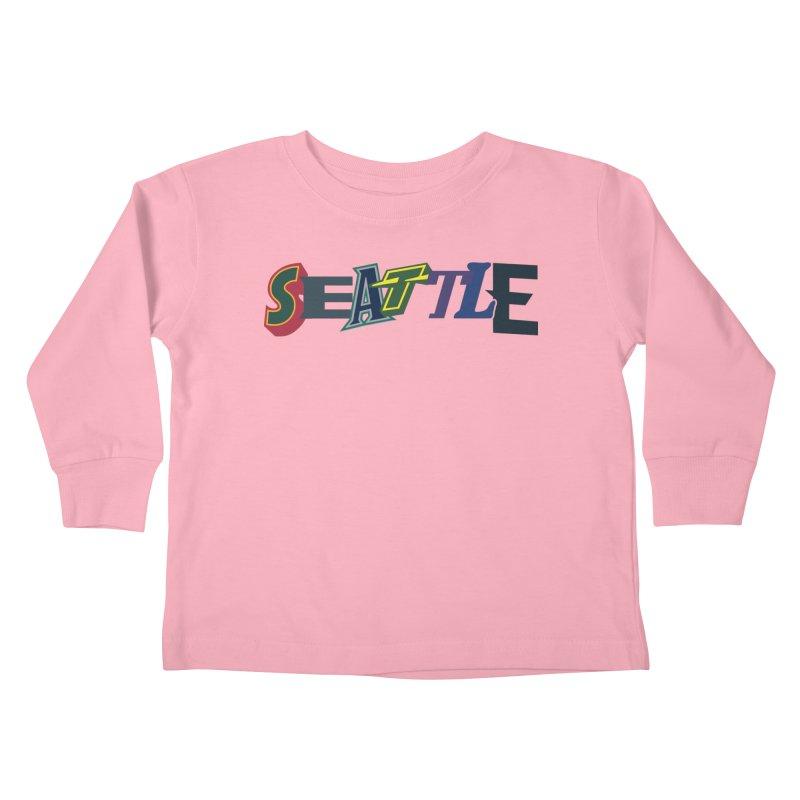 All Things Seattle Kids Toddler Longsleeve T-Shirt by Mike Hampton's T-Shirt Shop