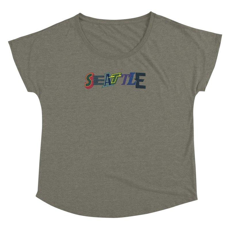 All Things Seattle Women's Dolman Scoop Neck by Mike Hampton's T-Shirt Shop