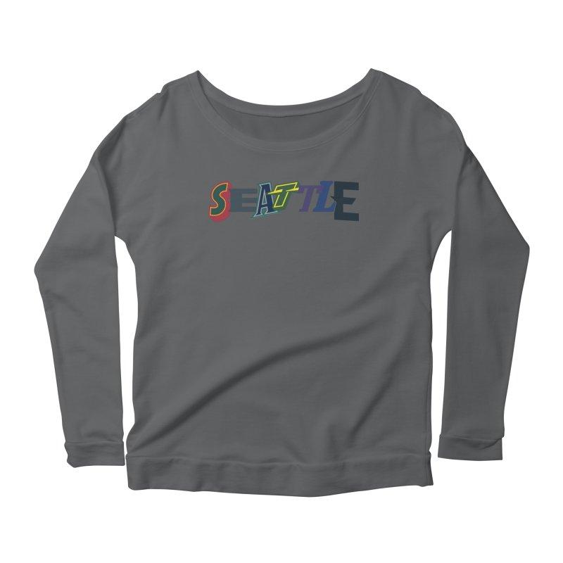 All Things Seattle Women's Scoop Neck Longsleeve T-Shirt by Mike Hampton's T-Shirt Shop