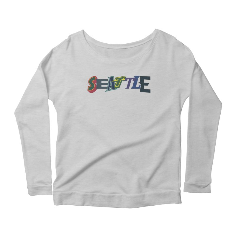 All Things Seattle Women's Scoop Neck Longsleeve T-Shirt by Mike Hampton's T-Shirt Shop