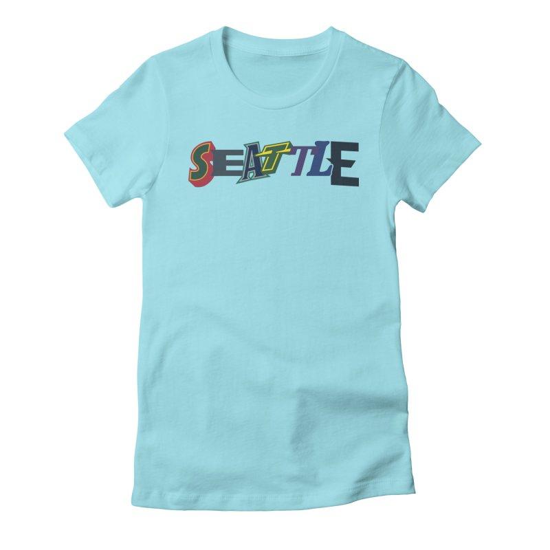 All Things Seattle Women's T-Shirt by Mike Hampton's T-Shirt Shop