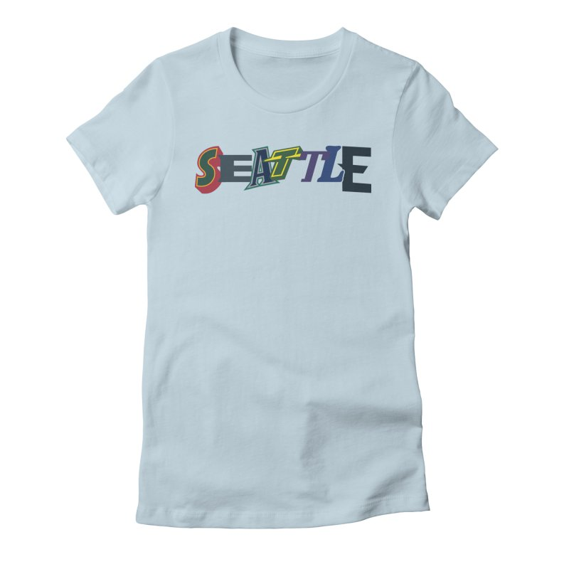 All Things Seattle Women's Fitted T-Shirt by Mike Hampton's T-Shirt Shop