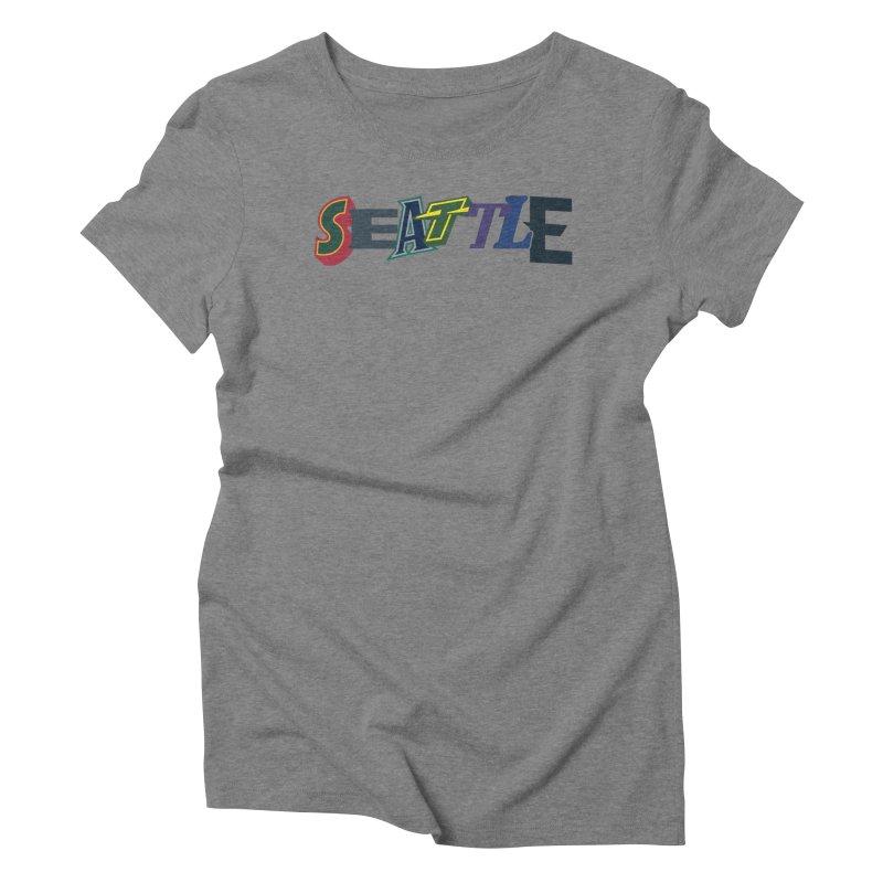 All Things Seattle Women's Triblend T-Shirt by Mike Hampton's T-Shirt Shop