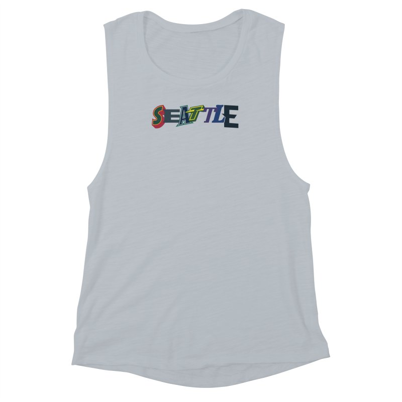 All Things Seattle Women's Muscle Tank by Mike Hampton's T-Shirt Shop