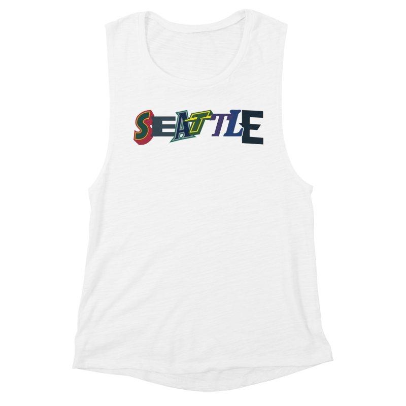 All Things Seattle Women's Muscle Tank by Mike Hampton's T-Shirt Shop