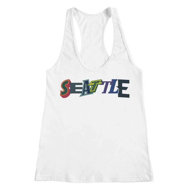 All Things Seattle Women's Racerback Tank by Mike Hampton's T-Shirt Shop