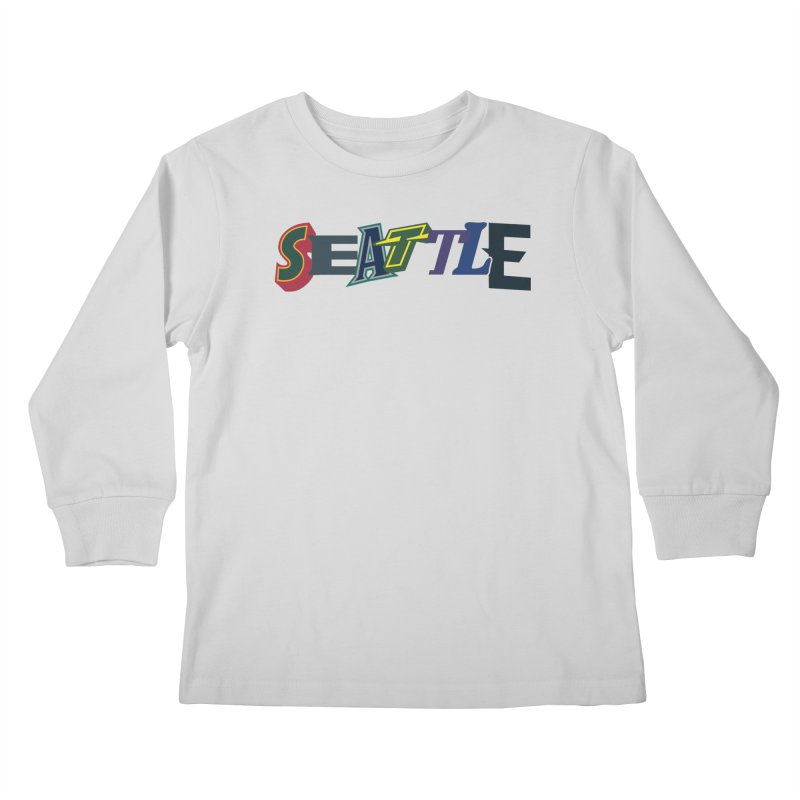 All Things Seattle Kids Longsleeve T-Shirt by Mike Hampton's T-Shirt Shop