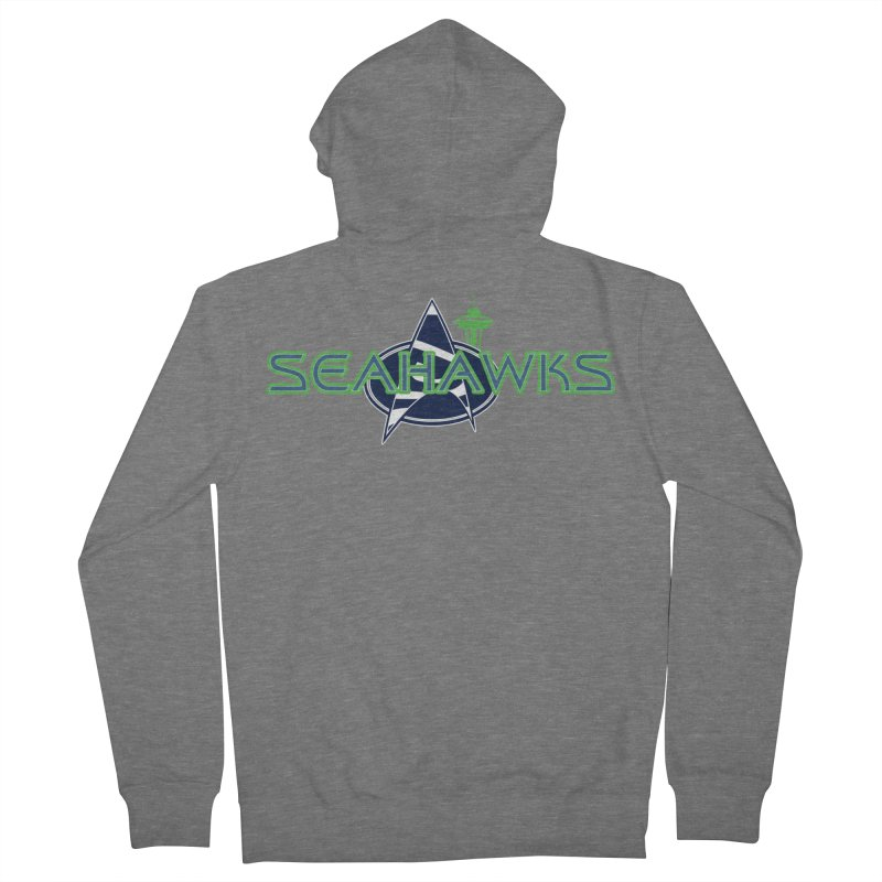 Seattle, the Final Frontier Women's Zip-Up Hoody by Mike Hampton's T-Shirt Shop