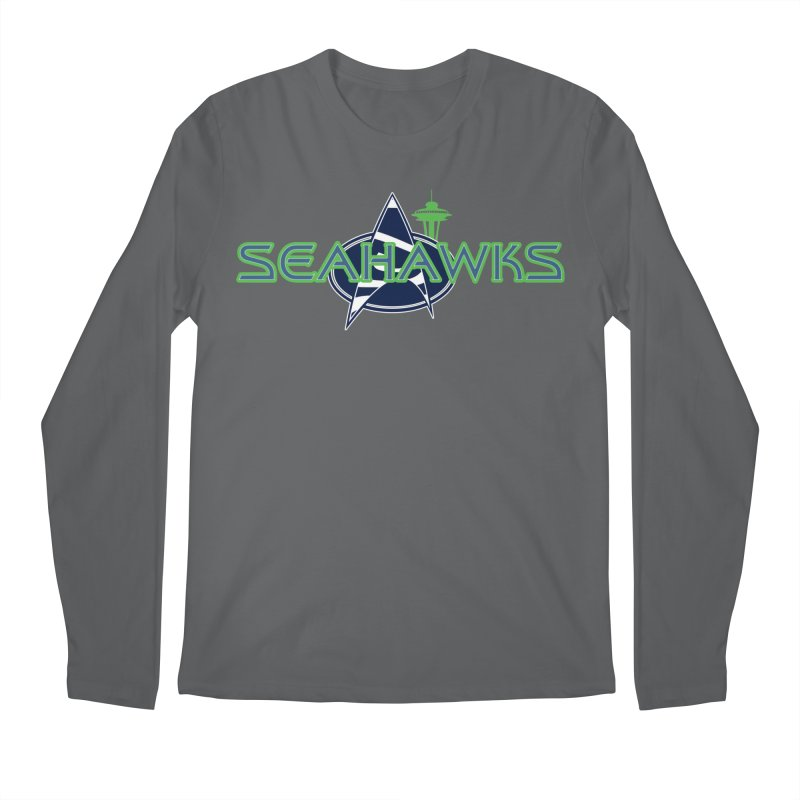 Seattle, the Final Frontier Men's Longsleeve T-Shirt by Mike Hampton's T-Shirt Shop