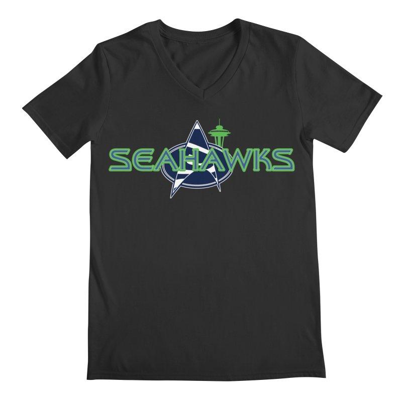 Seattle, the Final Frontier Men's V-Neck by Mike Hampton's T-Shirt Shop