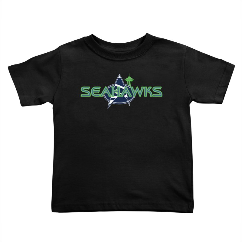 Seattle, the Final Frontier Kids Toddler T-Shirt by Mike Hampton's T-Shirt Shop