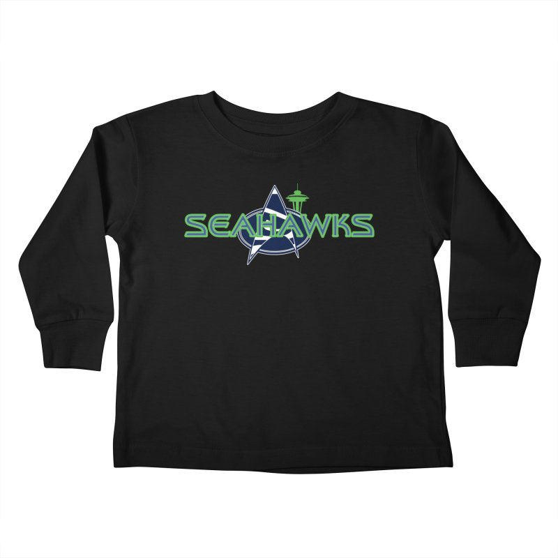 Seattle, the Final Frontier Kids Toddler Longsleeve T-Shirt by Mike Hampton's T-Shirt Shop