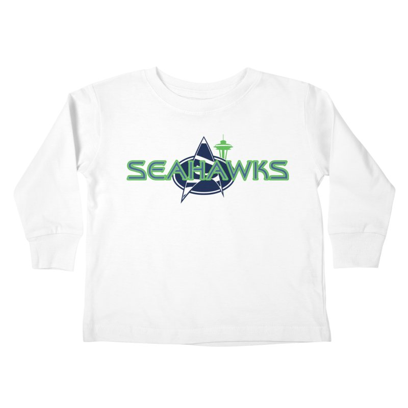 Seattle, the Final Frontier Kids Toddler Longsleeve T-Shirt by Mike Hampton's T-Shirt Shop