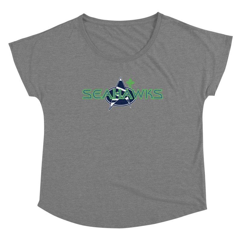 Seattle, the Final Frontier Women's Scoop Neck by Mike Hampton's T-Shirt Shop