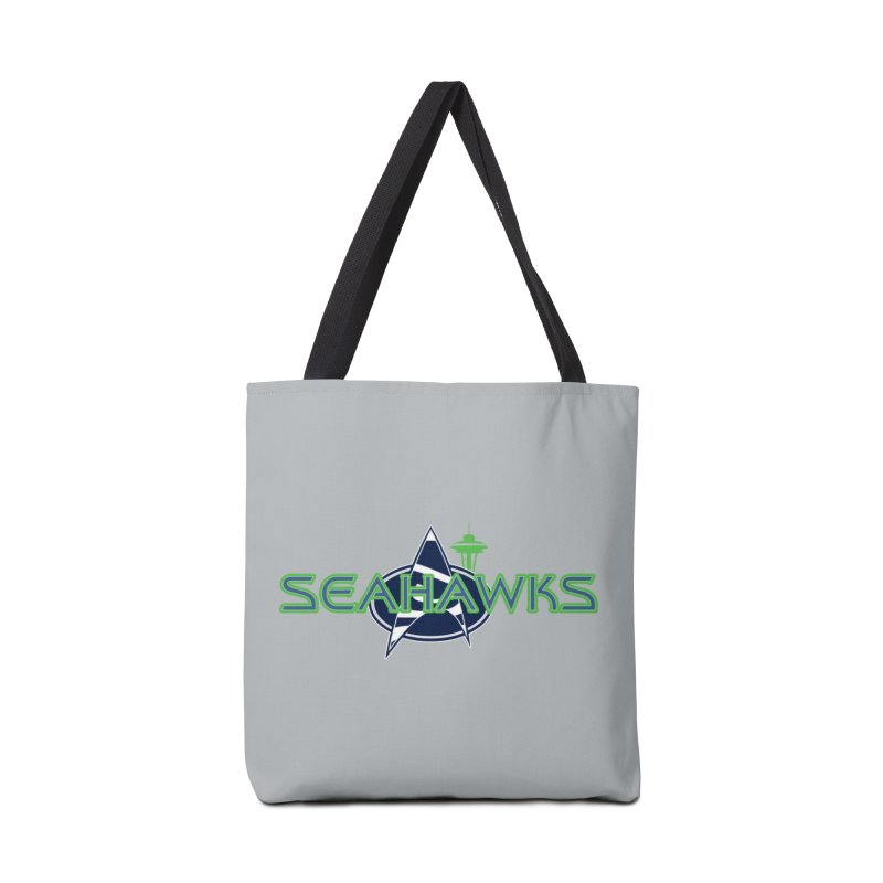 Seattle, the Final Frontier Accessories Tote Bag Bag by Mike Hampton's T-Shirt Shop
