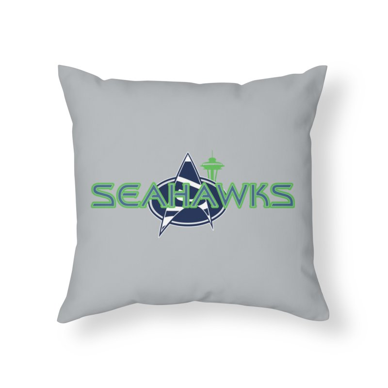 Seattle, the Final Frontier Home Throw Pillow by Mike Hampton's T-Shirt Shop