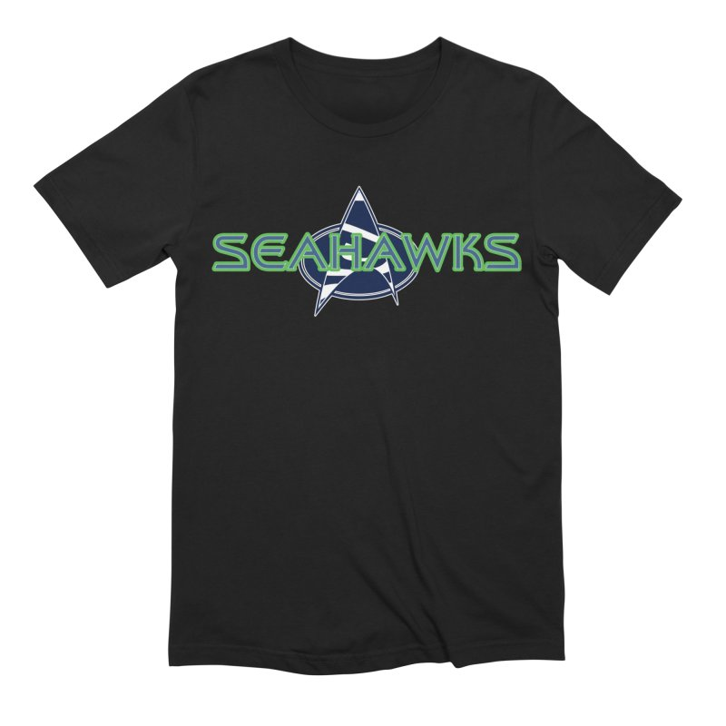 Seattle, the Final Frontier Men's Extra Soft T-Shirt by Mike Hampton's T-Shirt Shop