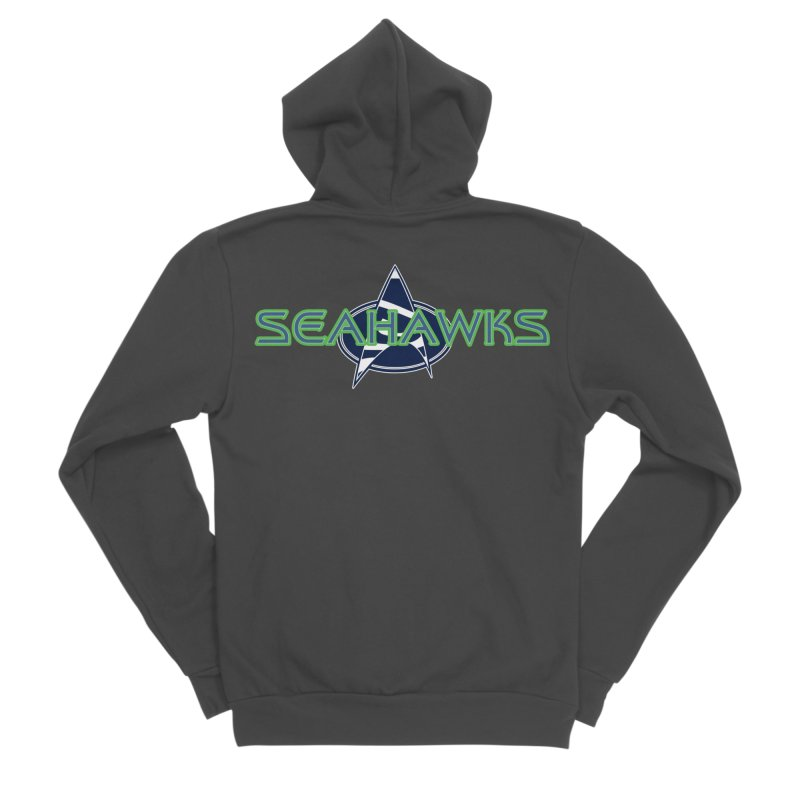 Seattle, the Final Frontier Women's Sponge Fleece Zip-Up Hoody by Mike Hampton's T-Shirt Shop