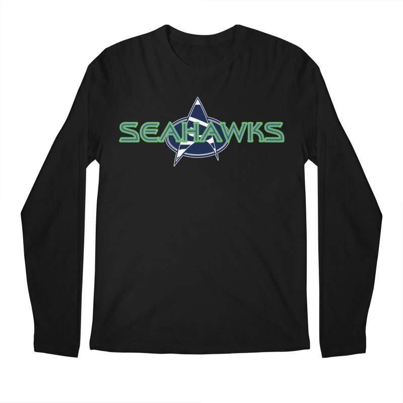 Seattle, the Final Frontier Men's Regular Longsleeve T-Shirt by Mike Hampton's T-Shirt Shop
