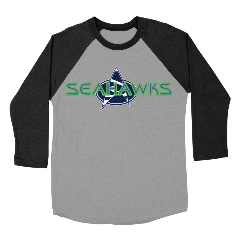Seattle, the Final Frontier Women's Baseball Triblend Longsleeve T-Shirt by Mike Hampton's T-Shirt Shop