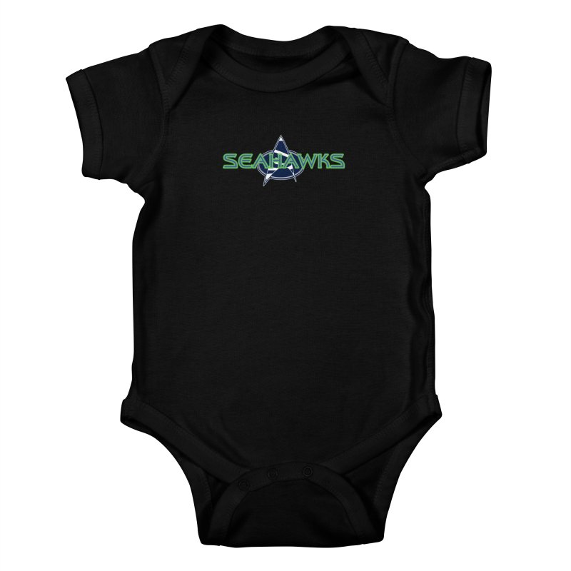 Seattle, the Final Frontier Kids Baby Bodysuit by Mike Hampton's T-Shirt Shop
