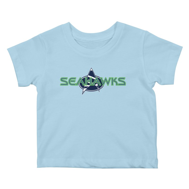Seattle, the Final Frontier Kids Baby T-Shirt by Mike Hampton's T-Shirt Shop