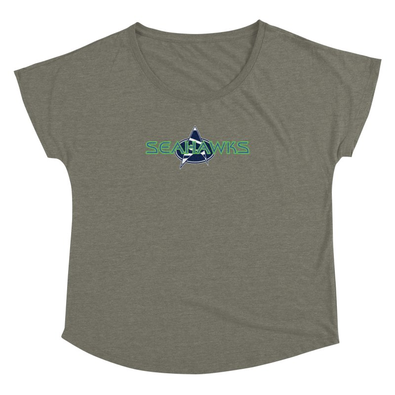 Seattle, the Final Frontier Women's Scoop Neck by Mike Hampton's T-Shirt Shop