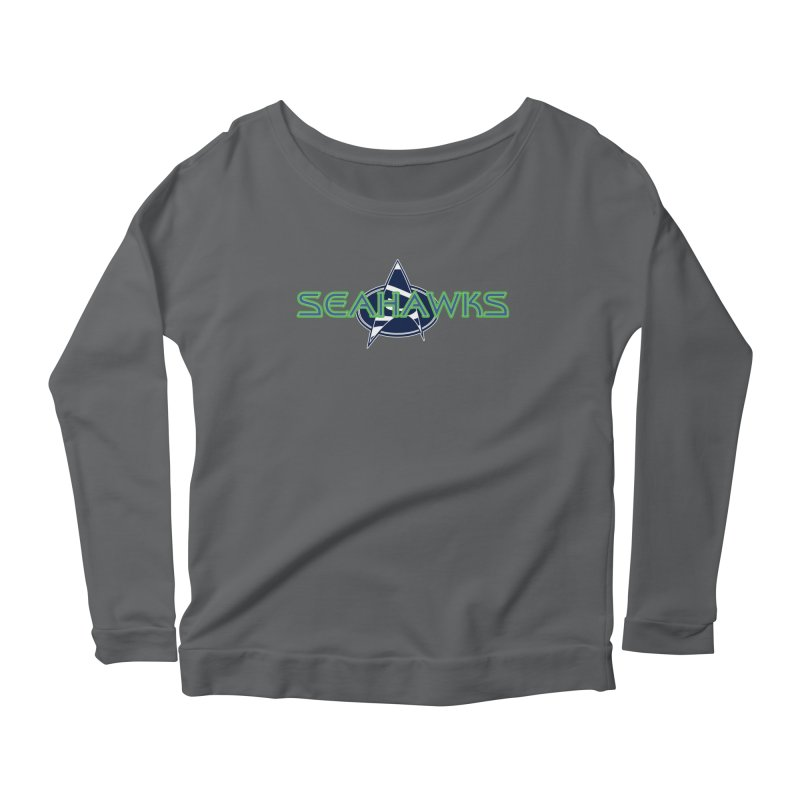 Seattle, the Final Frontier Women's Scoop Neck Longsleeve T-Shirt by Mike Hampton's T-Shirt Shop