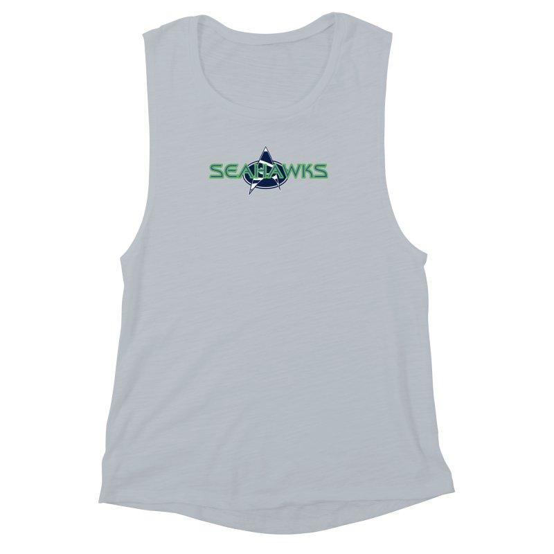 Seattle, the Final Frontier Women's Muscle Tank by Mike Hampton's T-Shirt Shop