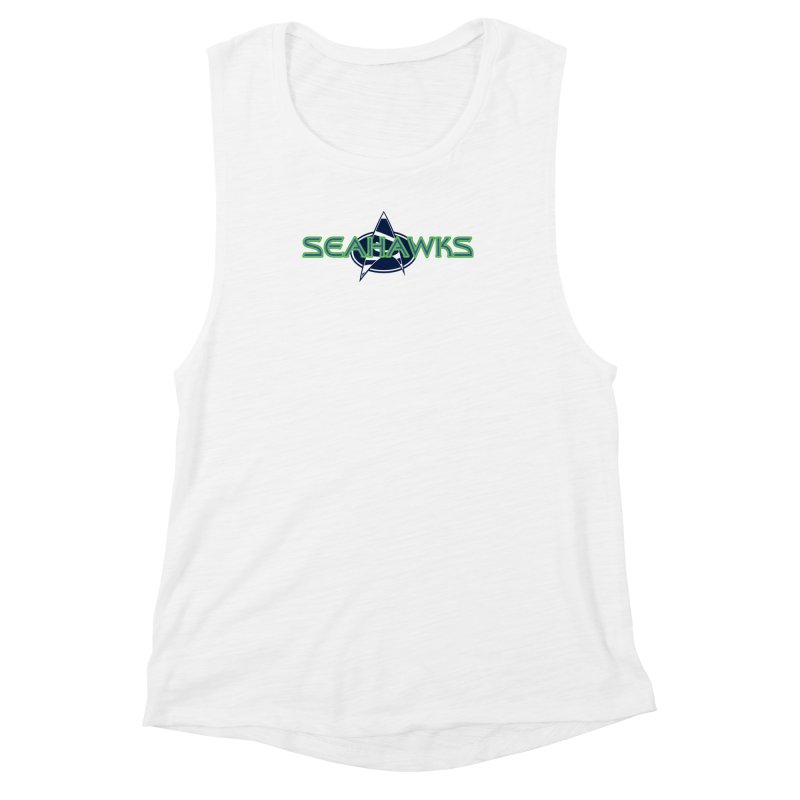 Seattle, the Final Frontier Women's Muscle Tank by Mike Hampton's T-Shirt Shop