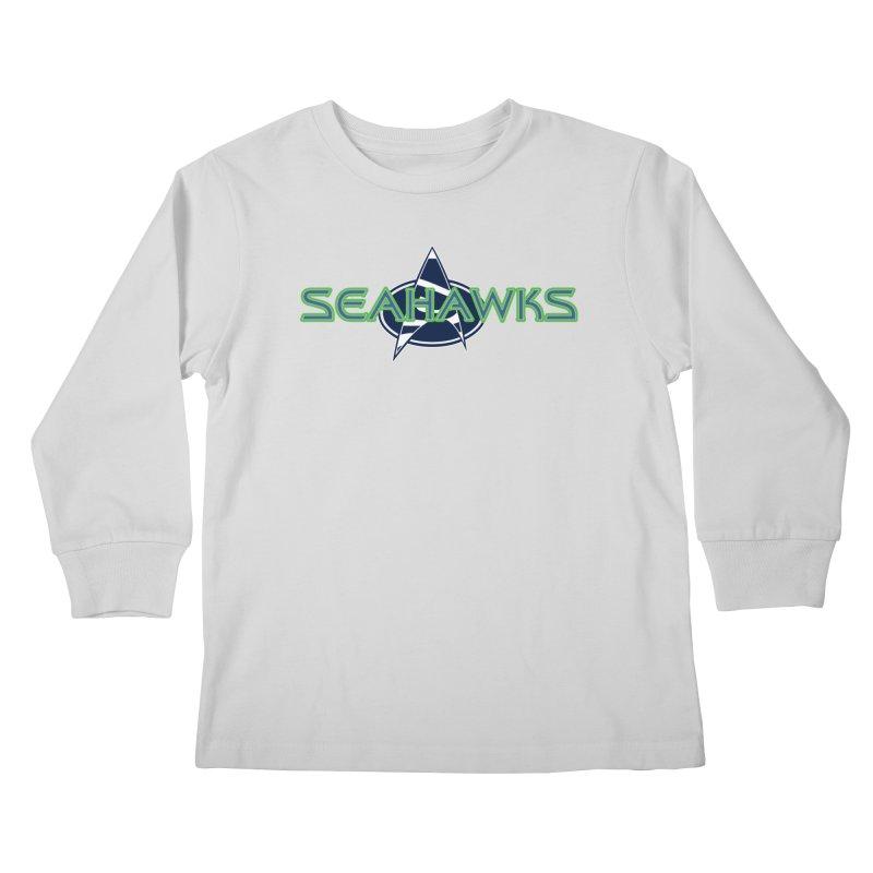 Seattle, the Final Frontier Kids Longsleeve T-Shirt by Mike Hampton's T-Shirt Shop