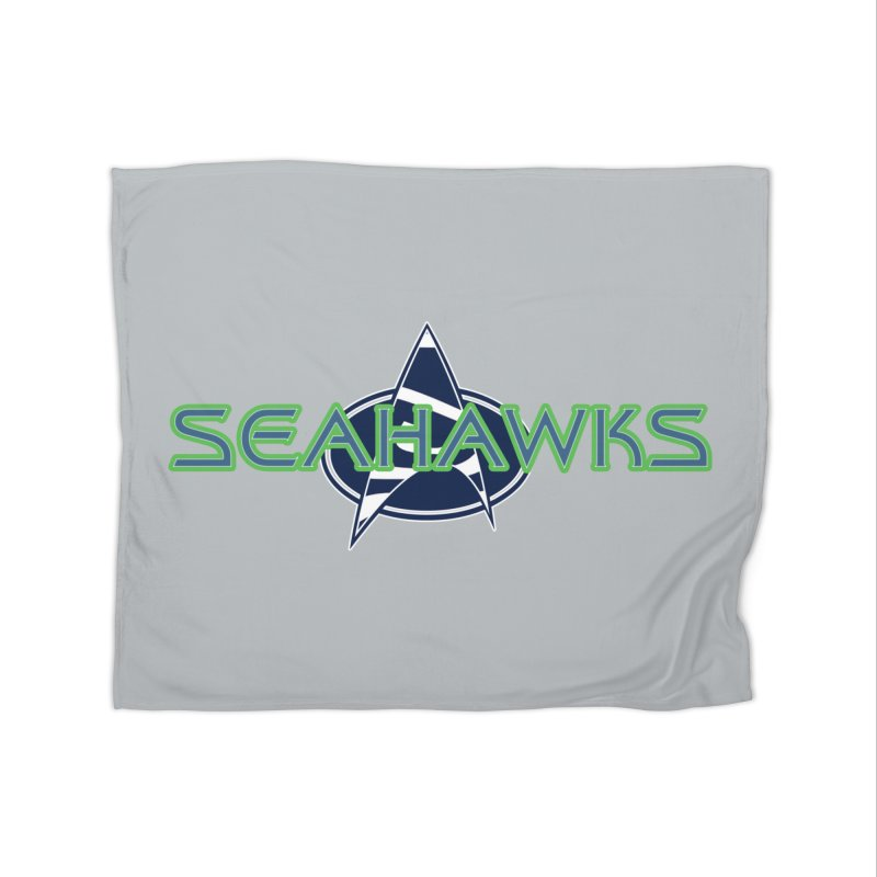 Seattle, the Final Frontier Home Fleece Blanket Blanket by Mike Hampton's T-Shirt Shop