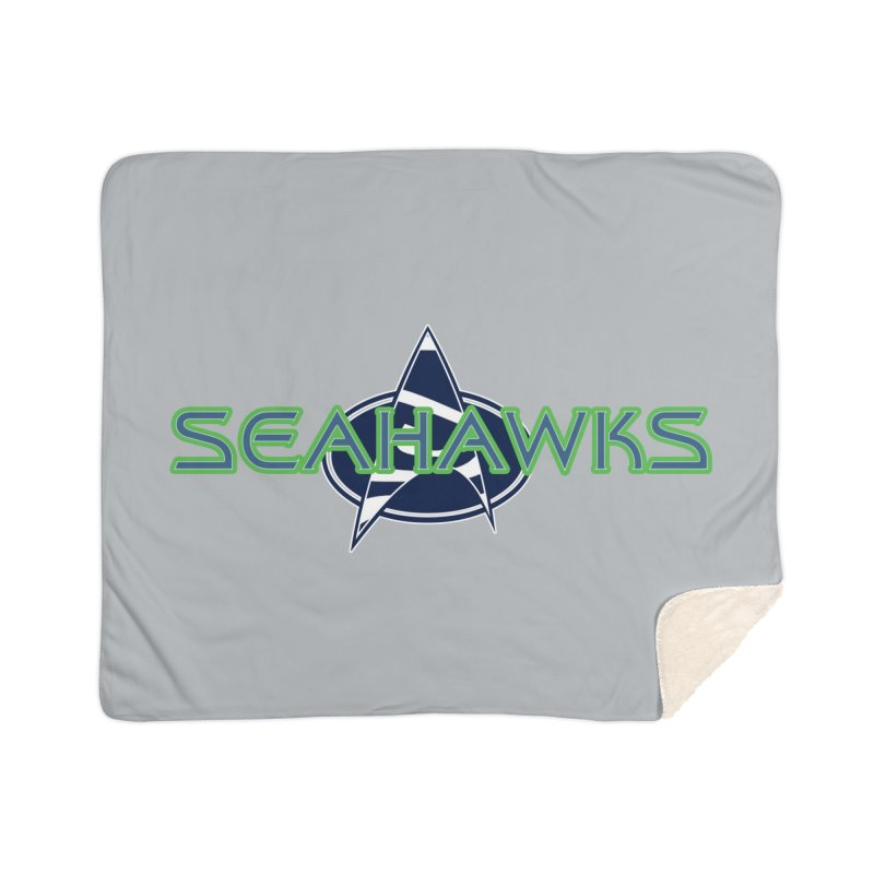 Seattle, the Final Frontier Home Sherpa Blanket Blanket by Mike Hampton's T-Shirt Shop