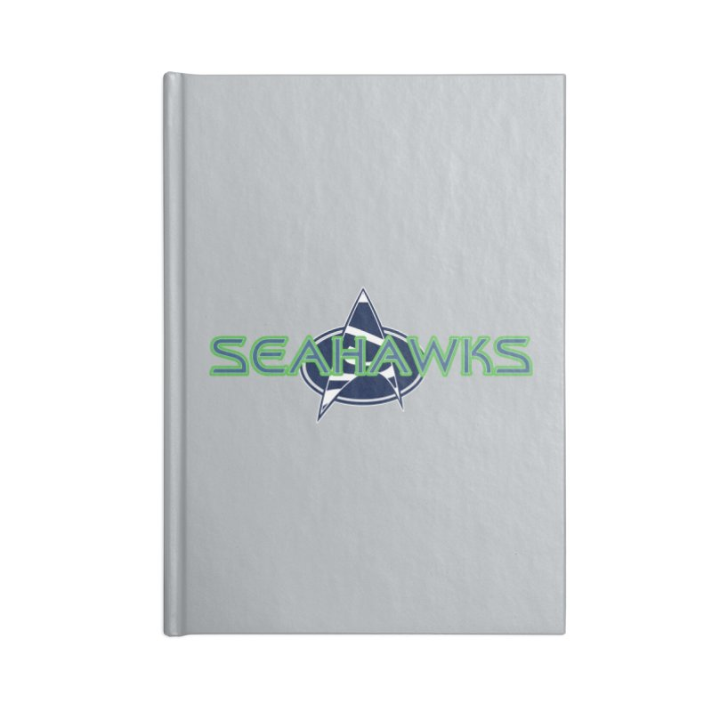 Seattle, the Final Frontier Accessories Lined Journal Notebook by Mike Hampton's T-Shirt Shop