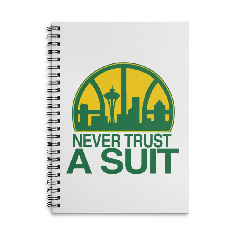 What Happened to the Sonics? Accessories Lined Spiral Notebook by Mike Hampton's T-Shirt Shop