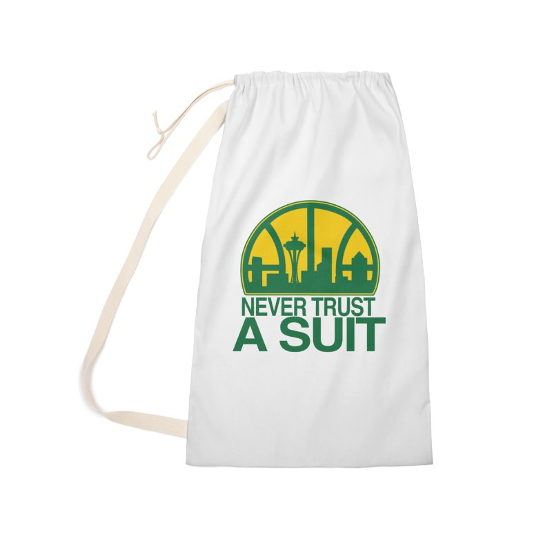 What Happened to the Sonics? Accessories Laundry Bag Bag by Mike Hampton's T-Shirt Shop