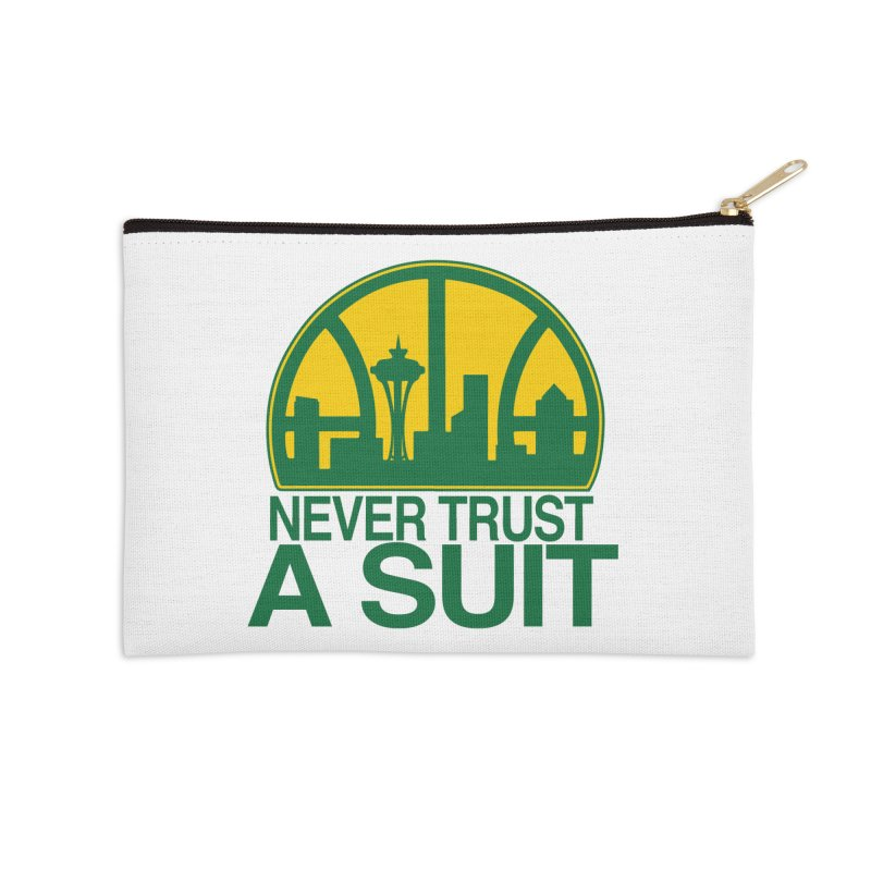 What Happened to the Sonics? Accessories Zip Pouch by Mike Hampton's T-Shirt Shop