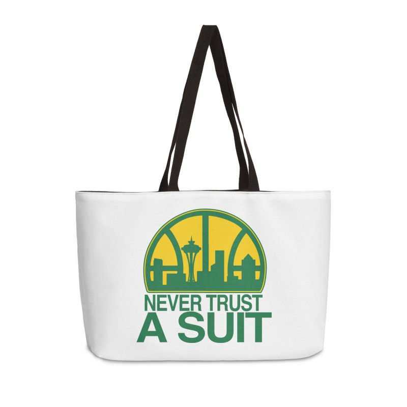 What Happened to the Sonics? Accessories Weekender Bag Bag by Mike Hampton's T-Shirt Shop