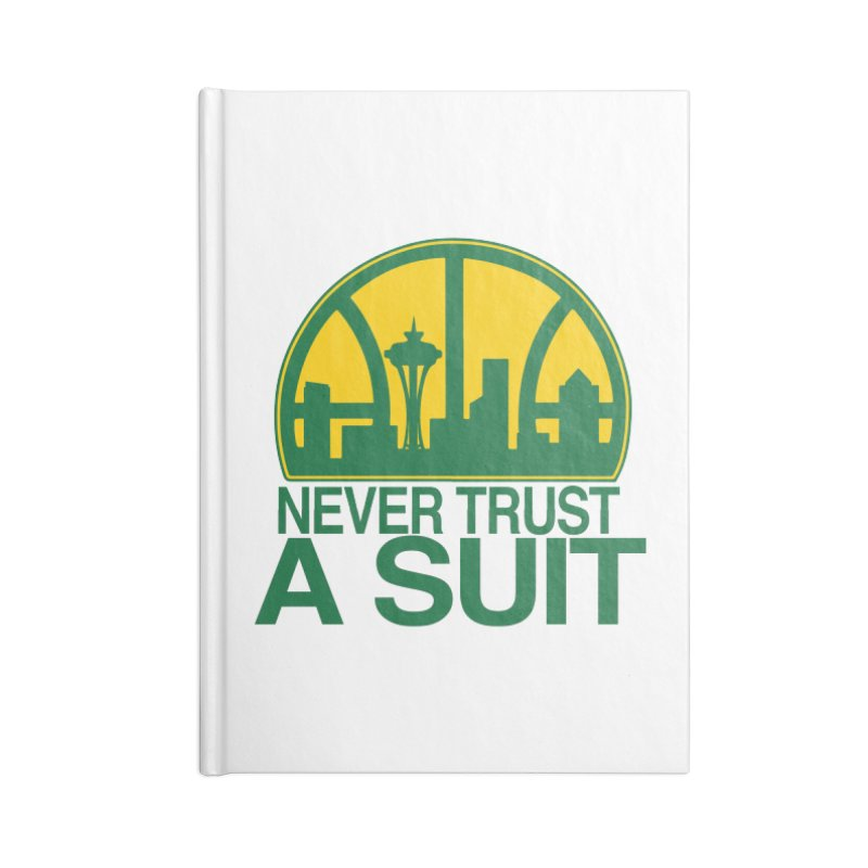What Happened to the Sonics? Accessories Lined Journal Notebook by Mike Hampton's T-Shirt Shop